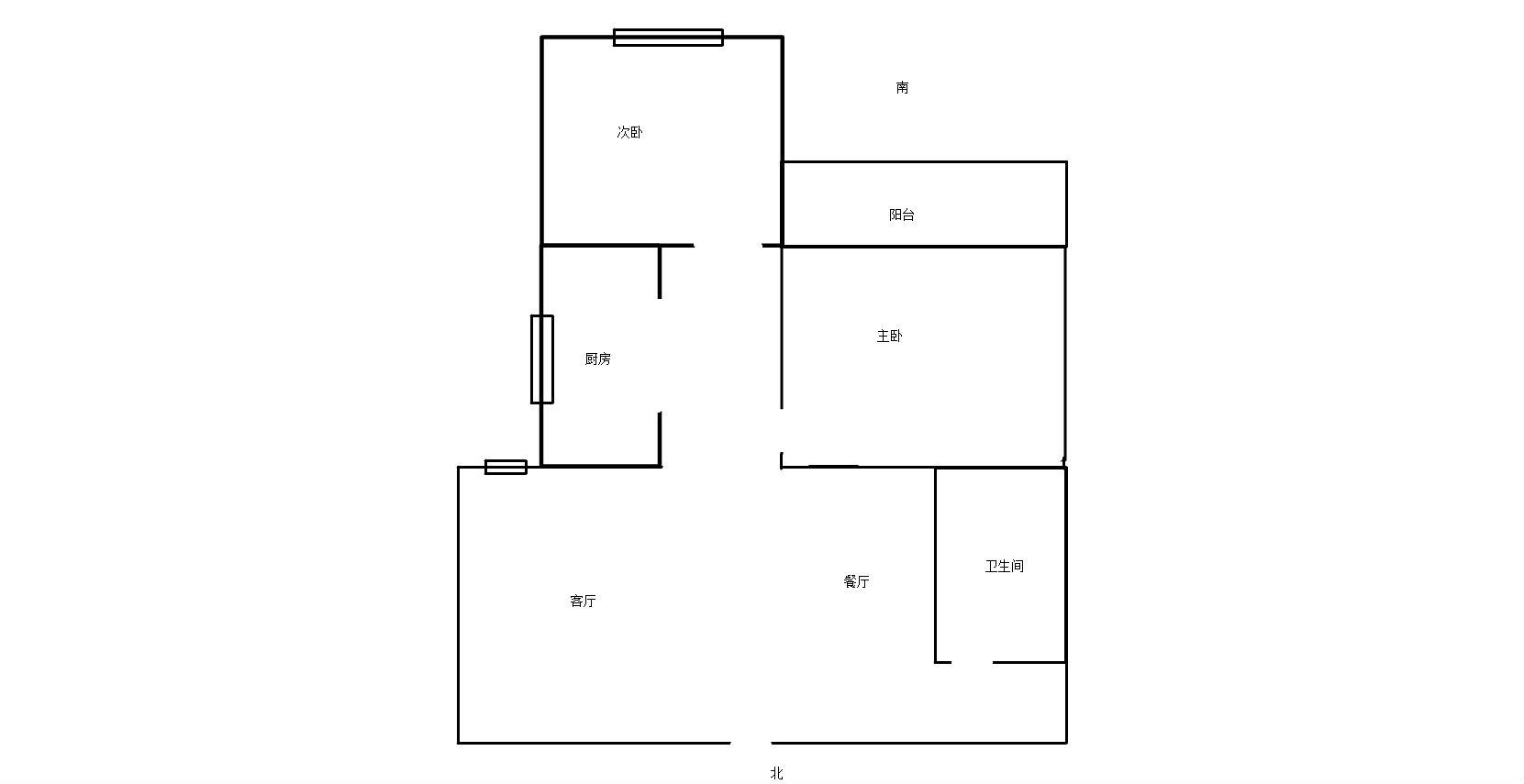 精装修 电梯2房_14